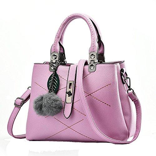 YXLONG Explosion Ladies Handbags Paquete Diagonal De Un Solo Hombro para El Comercio Exterior Bolsas Coreanas De Ocio,Black-29*13*21cm Purple2