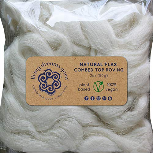 - Flax Fiber for Spinning Blending Dyeing. Strong Durable Vegan Combed Top