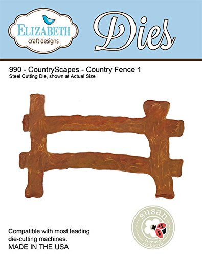 Elizabeth Craft Designs Country Scapes Steel Cutting Die, Country Fence
