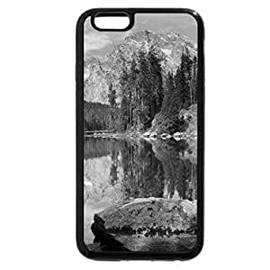 iPhone 6S Case, iPhone 6 Case (Black & White) - LEIGH LAKE, WYOMING