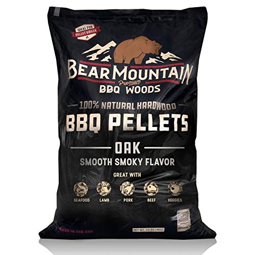 Best Buy! Bear Mountain BBQ 100% All-Natural Hardwood Pellets - Oak (20 lb. Bag) Perfect for Pellet ...