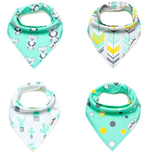 Comfort Products Set Mattress (Bandana Bibs - Set of 4 Unisex Bibs Infants, Toddlers and Babies - Organic Cotton Drool Bibs With Snaps Baby Bibs)
