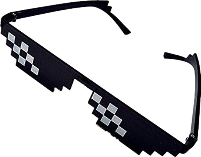 Hommes Femmes Pixelated Lunettes de Soleil Thug Life Party Lunettes De Vue  Mosaic Vintage Eye Wear,Unisexe Lunettes de Soleil-Noir-Livraison gratuite  (B)  ... f95cf49f76ab