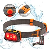 EverBrite Headlamp - 300 Lumens Headlight with Red/Green Light and Tail Light, 7 Lighting Modes, Perfect for Trail Running, Camping, Hiking and More, Adjustable Headband, 3 AAA Batteries Included