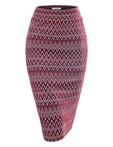 Bebonnie-Women-Knit-High-Waisted-Waved-Bodycon-Pencil-Skirt