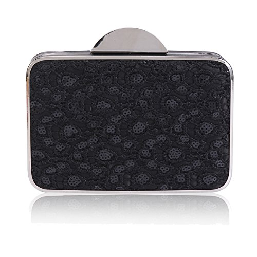 Sequins Embroidered Clutch Embroidered Graceful Bag Sequins Graceful Evening Womens Damara Damara Black Womens q8wSOx