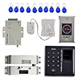 Flameer Durable 500 Fingerprint Access Control 10 Key Card Keypad Smart Lock Work Off Line Security Systems