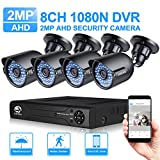 Security System, JOOAN 8CH 1080N CCTV DVR Recorder Security Camera System with 4 x 1080P (1920TVL) 2.0MP Outdoor Camera 3.6MM Lens Support AHD/CVI/TVI/CBVS/IPC