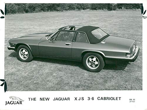 Vintage photo of The new jaguars XJS 3,6 -