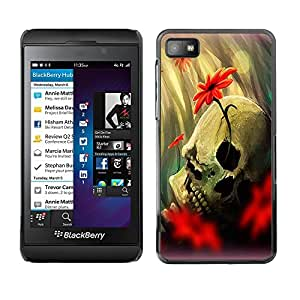 Jordan Colourful Shop - Skull Romantic Death Love Life For Blackberry Z10 Custom black plastic Case Cover