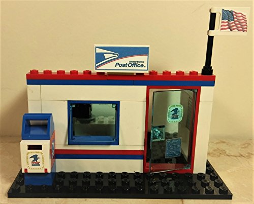 Lego Custom City Usps Postal Service Post Office  Ready To Play