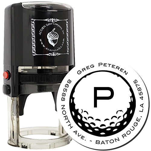 Ball Stamp (MaxStamp Self-Inking Golf Ball Address Stamper)