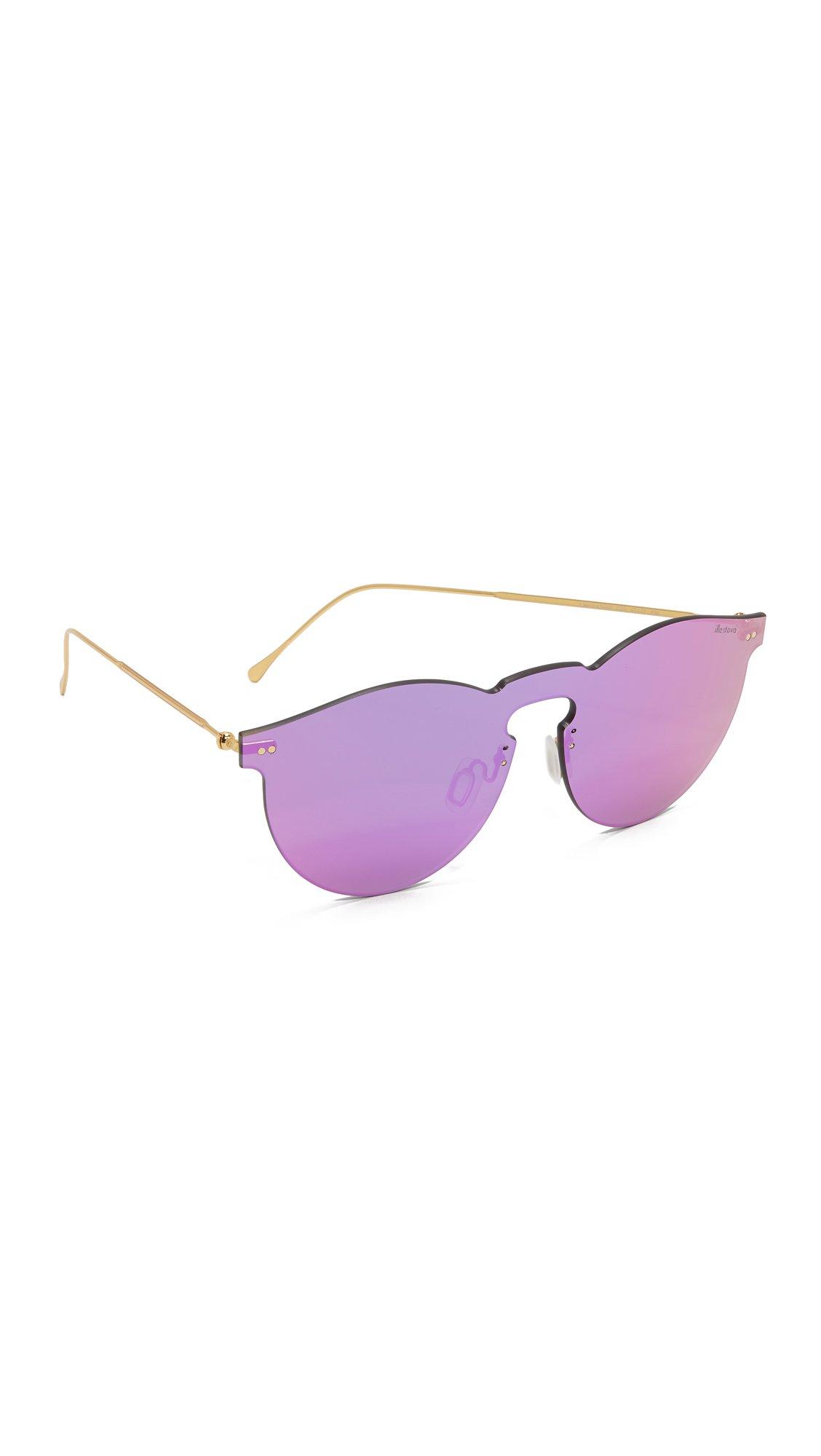 Illesteva Women's Leonard Mask Sunglasses, Pink/Pink, One Size