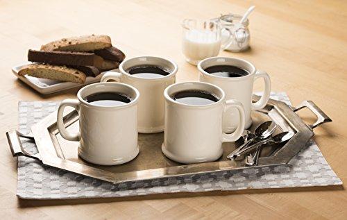 American Mug Pottery Ceramic Coffee Mug, Made in USA, Ivory, 16 oz - Pack of 4 (Coffee Ivory Mug)