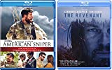 The Revenant Blu Ray & American Sniper: The Chris Kyle Commemorative Edition Courage Movie Bundle Set