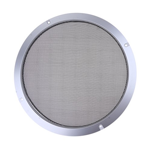10' Steel Woofer (Baoblaze 10'' Silver Speaker Decorative Circle SubWoofer Grill Cover Guard Protector Mesh)