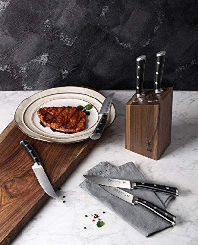 Cangshan TS Series1022261 Swedish Sandvik 14C28N Steel Forged 6-Piece Steak Knife Block Set, Walnut by Cangshan (Image #3)