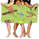 PengMin Cute Animals Premium 100% Polyester Large Bath Towel, Pool And Bath Towel (80'' X 130'') Natural, Soft, Quick Drying
