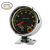Denshine 12V Universal Car 3.75'' RPM Tachometer Tacho Gauge With Shift Light 0-8000