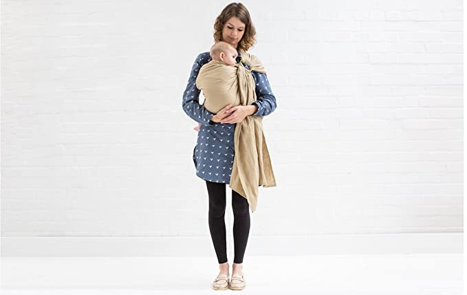 Mezaya Tm Made In The Uk Linen Ring Sling Baby Sling Baby Wearing Carriers Wraps Slings Tested To Eu Safety Standards Newborns Infants