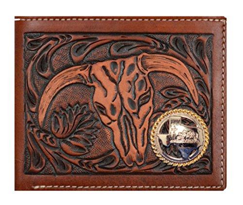 Church Belt Cow Tan Cowboy Short Praying Custom and Skull Texas 3D Company Brown Wallet x5wBBqYvz