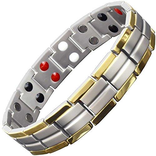 Titanium Magnetic Bracelet for Men Small Large X-Large Healing Elements Magnetic Wristband for Arthritis Pain Ion Energy Balance Bracelet +Gift - Balance $10 Pain Bracelet