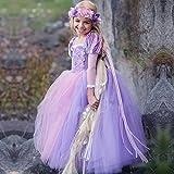 OBEEII Girls Princess Sofia Rapunzel Dress up Costume Cosplay Fancy Party Tutu Dress Halloween Christmas for 2-8 Years