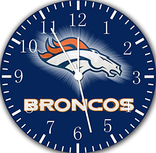 Broncos Borderless Frameless Wall Clock E94 Nice For Decor Or Gifts by Borderless