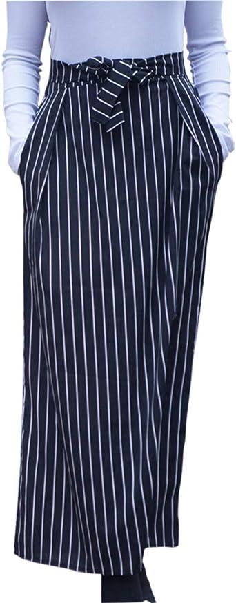 ShiFan Falda De Rayas Mujer Elegantes Cintura Alta Faldas Rectas ...