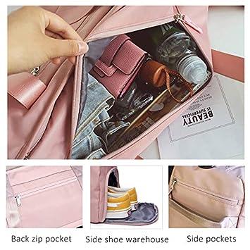WRI.UY Stylish Outdoor Waterproof Nylon Sports Gym Bags Men Women Girls Training Fitness Travel Handbag Yoga Mat Bag Sac Sport