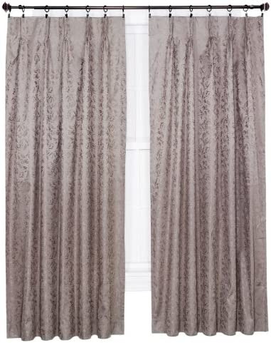 Ellis Curtain Dover Damask Woven Scroll Thermal Insulated Pinch Pleated Patio Panel