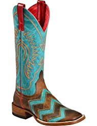 Macie Bean Womens Wave on Cowgirl Boot Square Toe - M9011