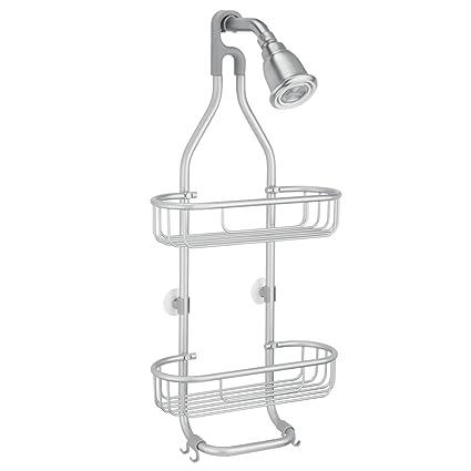 InterDesign Metro colgador ducha con 2 ganchos y 2 cestas ...