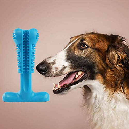 Pet Dog Toothbrush Natural Silica Gel Material Chew Toys for Tooth Cleaning and Interactive Training Playing Teething Brush Pets Oral by AODINI (Image #8)