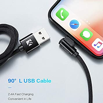 USB Fast Charging Cable Compatible iOS System HM2 Nylon Braided Lightning to USB Cable 1M USB Cable