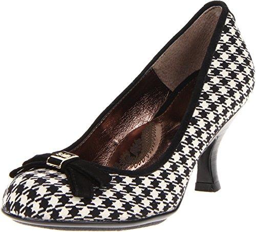 Sofft Women's Black/White Vivian 6 B(M) - Sofft Shoes White
