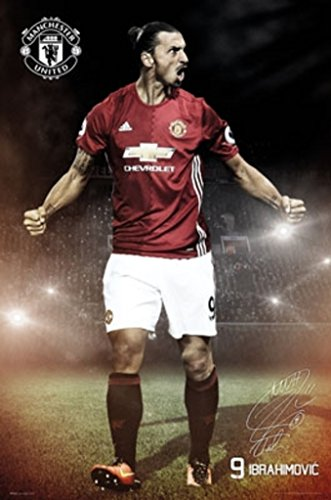 ZLATAN IBRAHIMOVIC MANCHESTER UNITED WALL POSTER for sale  Delivered anywhere in USA