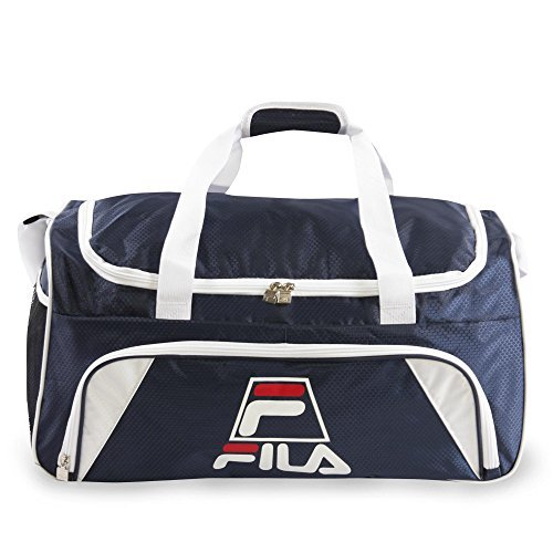 Fila Crew Medium Sports Duffel Gym Bag, Navy, One Size by Fila