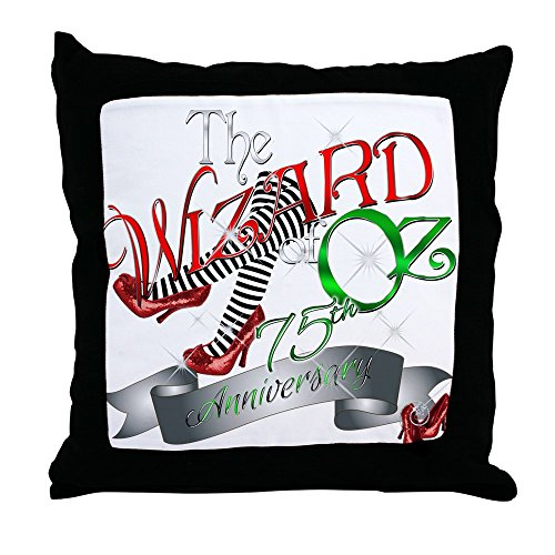 CafePress 75Th Anniversary Wizard Of Oz Red Shoes Throw Pill - Decor Throw Pillow (18