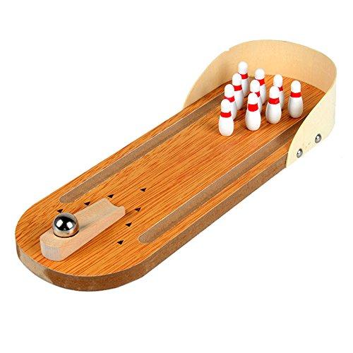 卓上ボーリングゲーム おもちゃ ミニボーリングゲーム 木製 インテリア ボールゲーム シュートゲーム フィンガープレイ 子供 おもちゃ 贈り物 Prosperveil