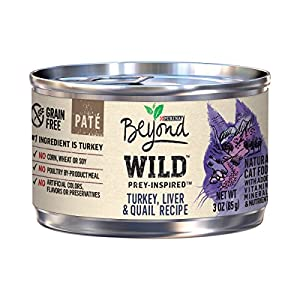 Purina Beyond Grain Free, Natural, High Protein Pate Wet Cat Food; WILD Turkey, Liver & Quail - (12) 3 oz. Can 98