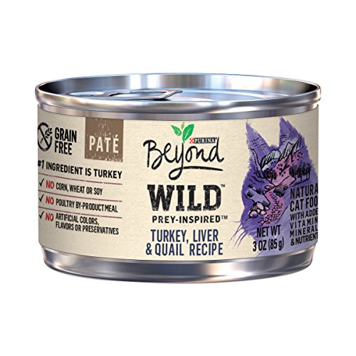 Purina Beyond Wild Grain Free Natural High Protein, Turkey, Liver & Quail Recipe Canned Cat Food, 3 Oz, Case Of 12