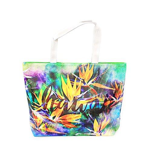 Hawaii Print Tote Bag Shoulder Bag in Bird of (Bird Of Paradise Tote)