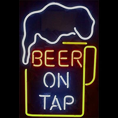 Brand New Beer On Tap Neon Light Sign Beer Bar Pub Real Glass17x14!Best Offer!