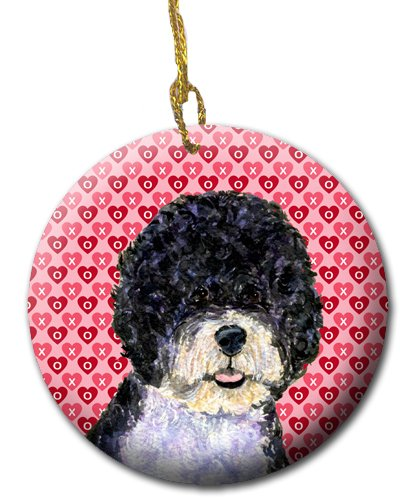 Multicolor Carolines Treasures SS4490CO1 Portuguese Water Dog Ceramic Ornament 3 in
