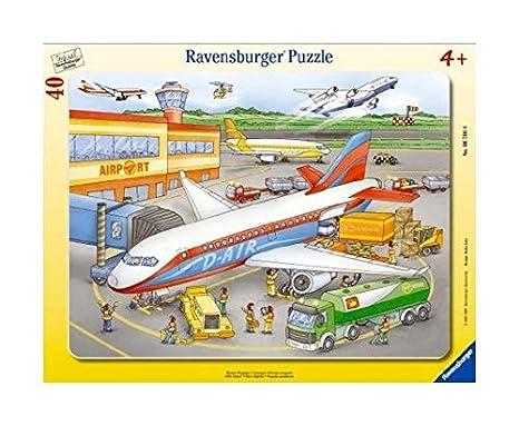 Puzzle mit 40 Teilen Rahmenpuzzle ab 4 Jahren Spiel Deutsch Puzzles & Geduldspiele Kleiner Flugplatz