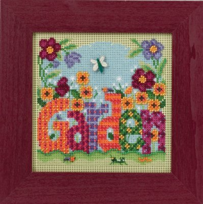 Garden Beaded Counted Cross Stitch Kit Mill Hill 2016 Buttons & Beads Spring -