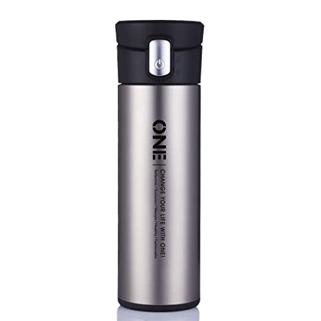 oneisall 320ml glass liner thermos cupinsulated coffee mugbusiness male stainless steel vacuum - Glass Thermos