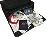 Large Fireproof Document and Money Bag by SlayMonday - (15 x 12 x 5 Inches) Non Itchy, Strong Double Layer Heat Protection - XL Fire and Water Resistant Pouch To Protect Jewelry, Cash, and Documents