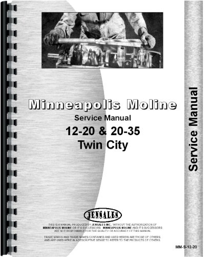 Minneapolis Moline Twin City Tractor Service Manual (MM-S-12-20) PDF